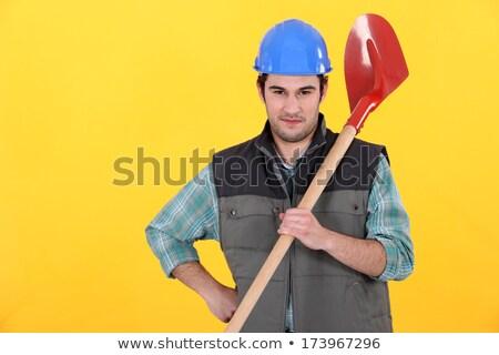 építész ásó fű férfi építkezés otthon Stock fotó © photography33