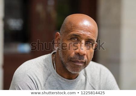 Mature Man on Black - Depressed Stock photo © lisafx