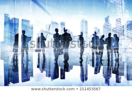 Absztrakt kép üzletemberek város nők utca Stock fotó © leungchopan