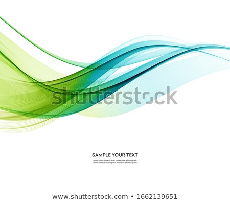Abstrato fundo ondas azul ondulado eps Foto stock © saicle