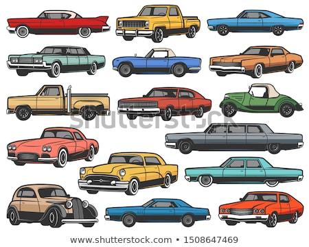 Veterán autó közelkép klasszikus öreg fény Stock fotó © manfredxy