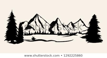 Alberi montagna cratere lago percorso maroon Foto d'archivio © benkrut
