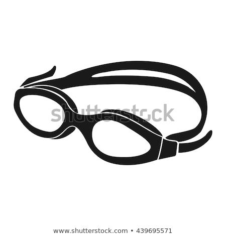 スイミング ゴーグル 白 行使 プラスチック ライフスタイル ストックフォト © haiderazim