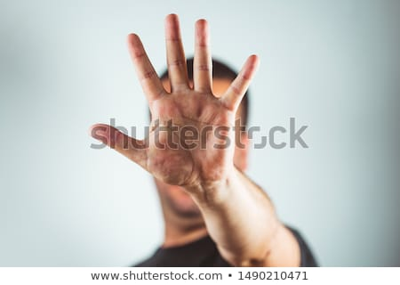 Man making stop gesture Stock photo © photography33