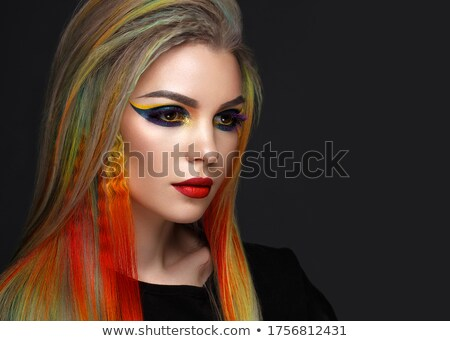beauty girl with creative braid  Stock photo © carlodapino