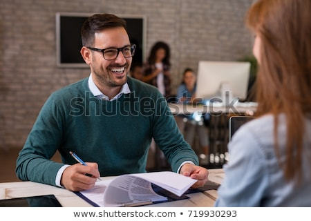 Businessman interviewing a woman Stock photo © photography33