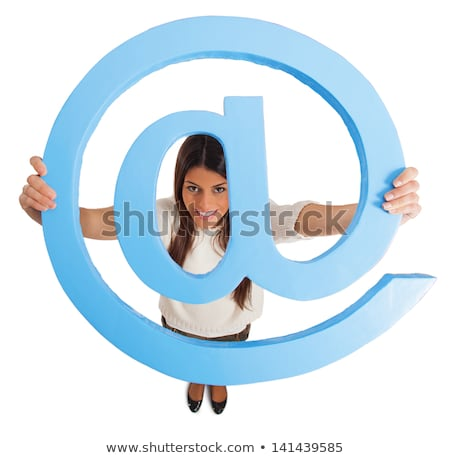 Brunette with email symbol Stock photo © photography33