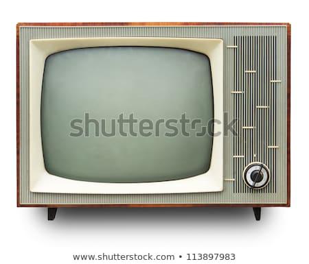 Klasszikus tv készülék kézzel rajzolt vektor rajz illusztráció Stock fotó © perysty
