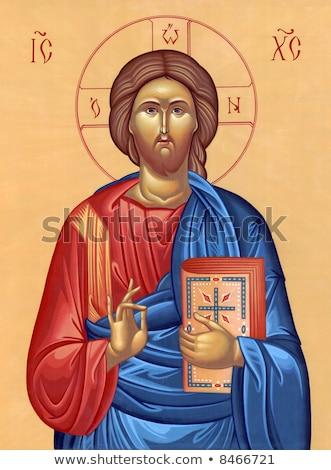 religious icon painted on paper stock photo © shutswis
