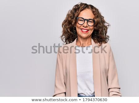 Séduisant excité hispanique exécutif souriant portrait Photo stock © pablocalvog