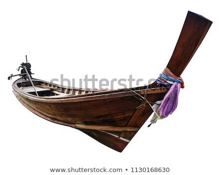 Foto stock: Tropical Beach Landscape Thai Traditional Long Tail Boats