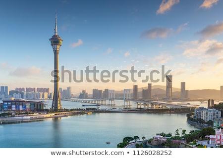 Toren conventie van brug ochtend business Stockfoto © joyr
