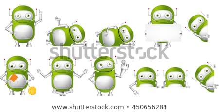Robot rajzfilmfigura rajz művészet rajz karakter Stock fotó © indiwarm