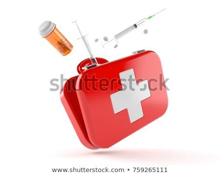 Ilustração 3d médico branco atravessar fundo Foto stock © kolobsek