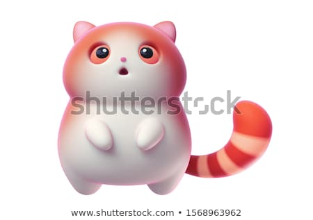 3d creature character in orange on white Stock photo © Melvin07