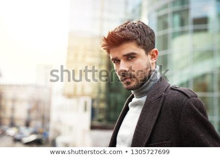Portre yakışıklı genç pencere adam seksi Stok fotoğraf © luckyraccoon