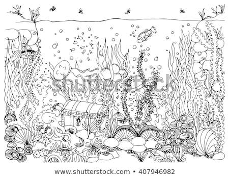 su · siluet · balık · deniz · okyanus · imzalamak - stok fotoğraf © carodi