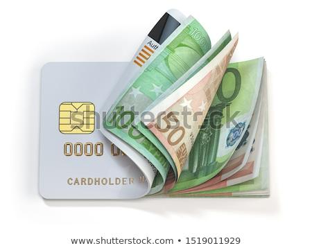 carte · di · credito · euro · nero · pelle · portafoglio - foto d'archivio © paha_l