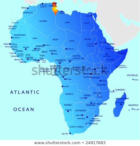 Africa map with Tunesia Stock photo © Ustofre9