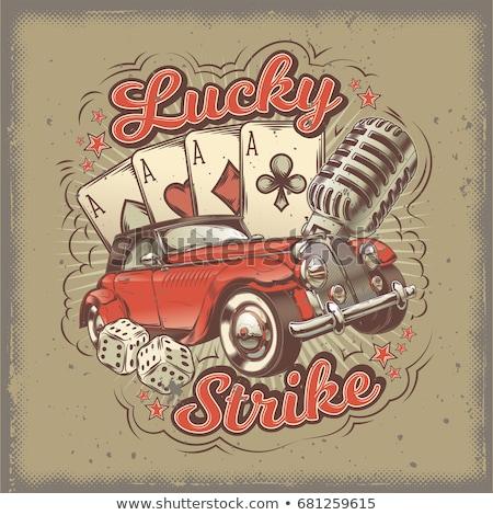 poker vintage wallpaper vector illustration stock photo © carodi
