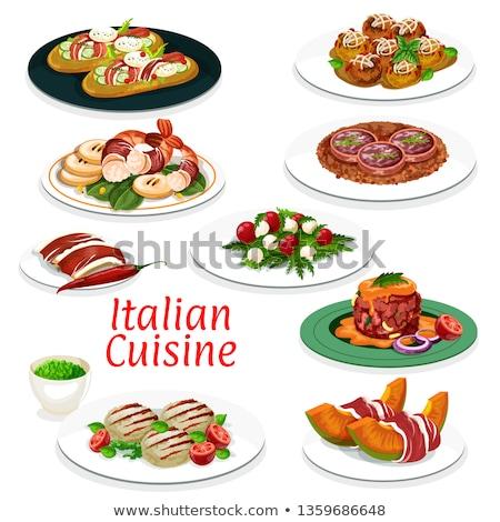 Tomatoes and mozzarella tartar Stock photo © doupix