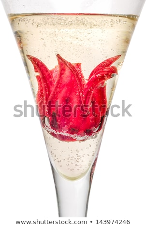 Champagne Cocktail With Hibiscus Flower Photo stock © Zerbor