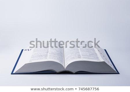 Student definicja stron papieru edukacji wydruku Zdjęcia stock © sqback
