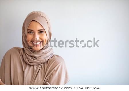 Mooie vrouw hoofddoek portret mooie mysterieus vrouw Stockfoto © luminastock