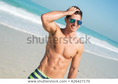 Hot guy with abs Stock photo © curaphotography