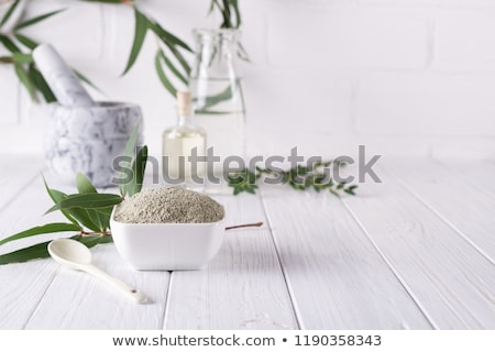 lama · verde · argila · naturalismo · terapia · pele - foto stock © lunamarina