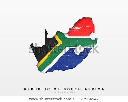 south africa ink brush flag illustration design Stock photo © alexmillos