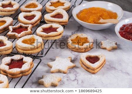 Biscuit with marmalade Stock photo © aladin66
