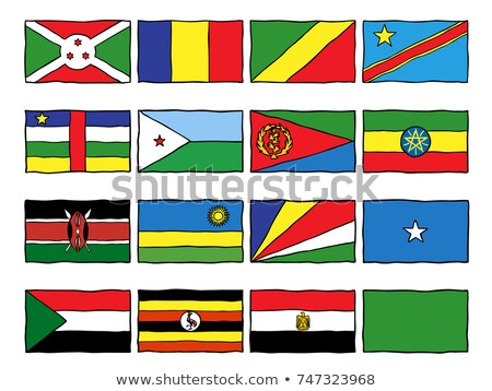 handdrawn flag of seychelles stock photo © claudiodivizia