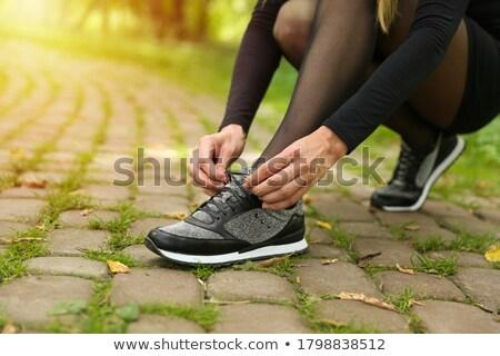 女性 脚 パンスト ネクタイ 白 女性 ストックフォト © tarczas