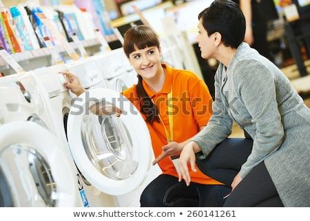 deux · jeunes · amis · regarder · vêtements · magasin - photo stock © get4net