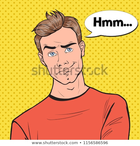 casual man posing with a frown Stock photo © feedough