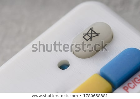 Macro shot of the 'Play' and 'Record' buttons Stock photo © d13