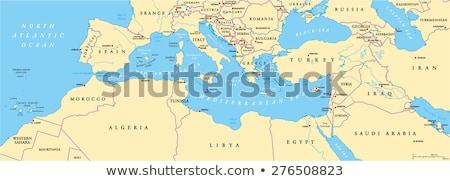 black western asia map stock photo © volina