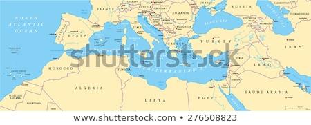 черный западной Азии карта мира фон Сток-фото © Volina