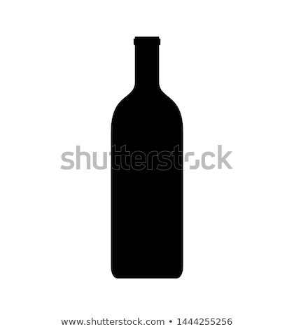 vector isolated black bottles silhouettes Stock photo © odes
