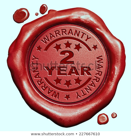 warranty 2 year   stamp on red wax seal stock photo © tashatuvango