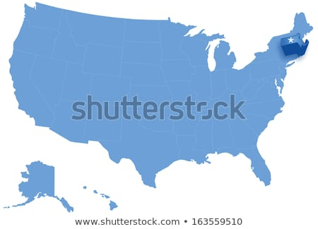 Map of States of the United States where Massachusetts is pulled out Stock photo © Istanbul2009
