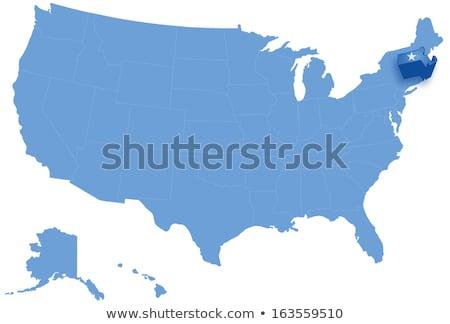 Harita Amerika Birleşik Devletleri Massachusetts dışarı siyasi tüm Stok fotoğraf © Istanbul2009