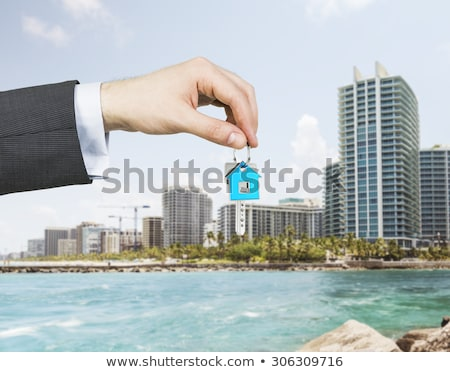 Estate-agent dangling  keys Stock photo © photography33
