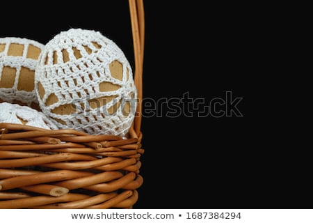 Beautiful Easter eggs in crocheted covers Stock photo © juniart