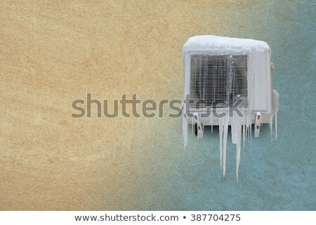 Stock photo: Frozen air conditioning with icicle