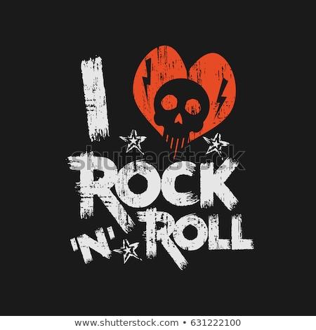 i love rock stock photo © burakowski