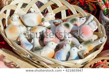 Argila assobiar pássaro forma branco música Foto stock © ultrapro