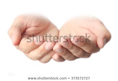Male open hands for begging Stock photo © stevanovicigor