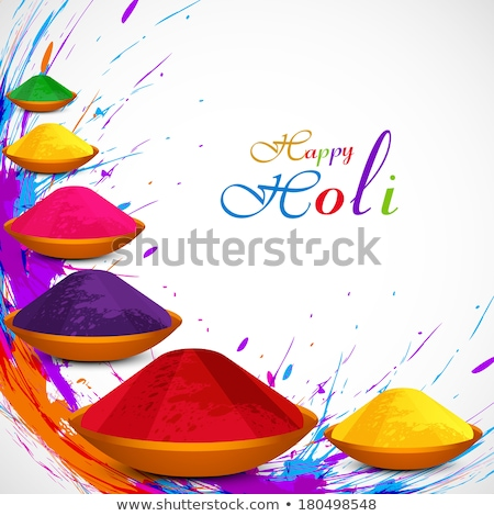 Beautiful vector card colorful texture holi festival background  Stock photo © bharat